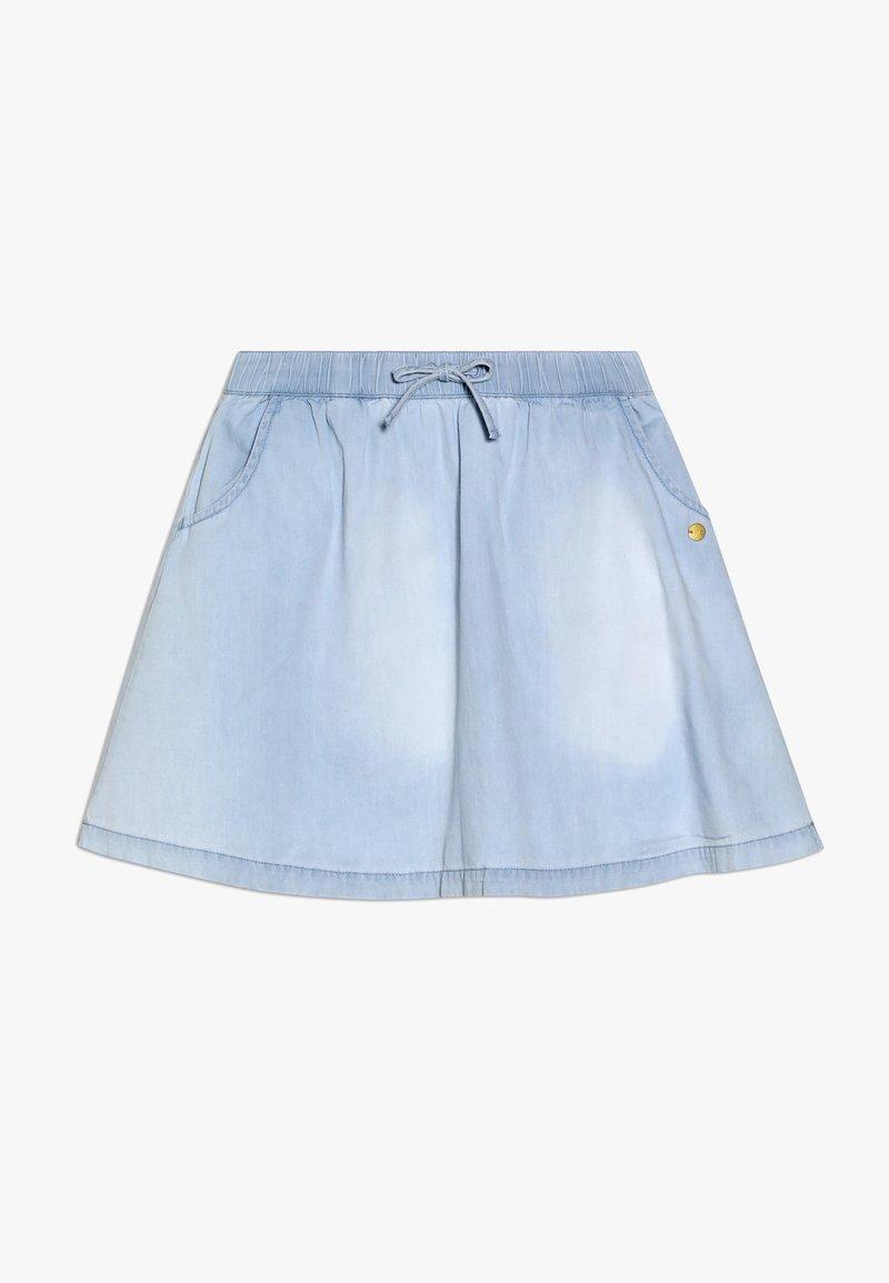 Esprit - SKIRT - A-line skirt - light indigo denim