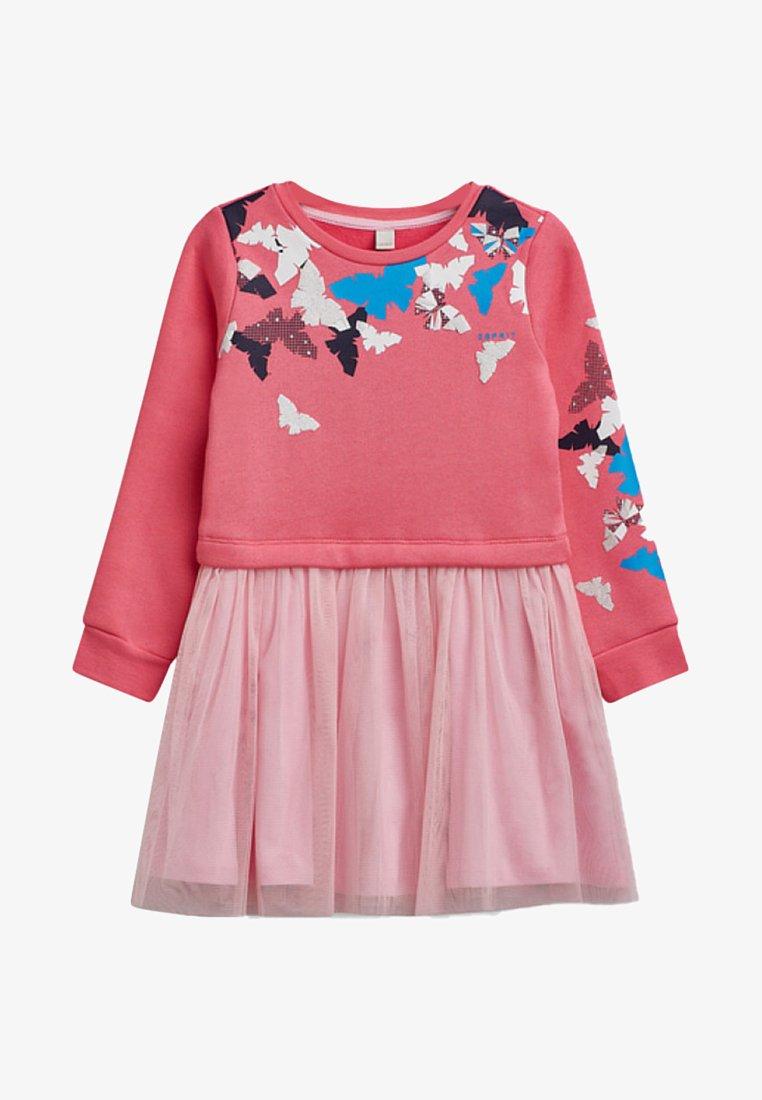 Esprit - MIT TÜLL-ROCK - Jerseykleid - dark pink