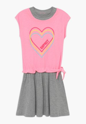 Žerzejové šaty - neon pink