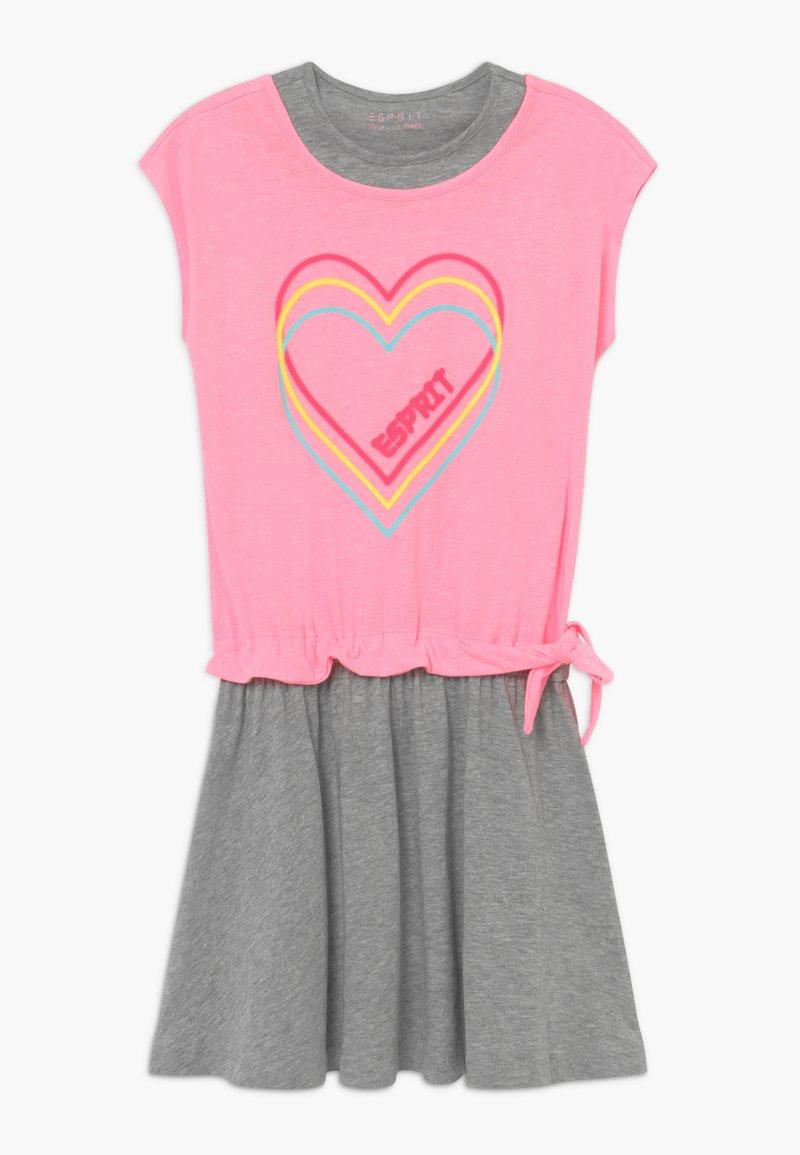 Esprit - Žerzejové šaty - neon pink