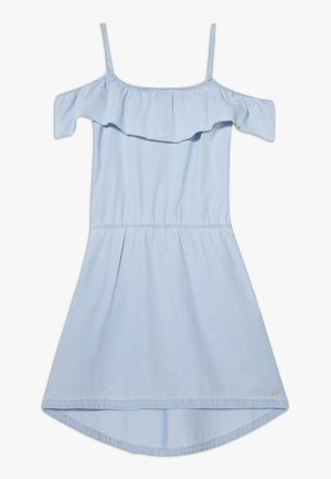 DRESS - Day dress - light indigo denim