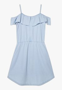 Esprit - DRESS - Korte jurk - light indigo denim - 1