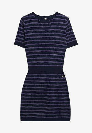 MIT GLITZER-STREIFEN - Jumper dress - navy blue