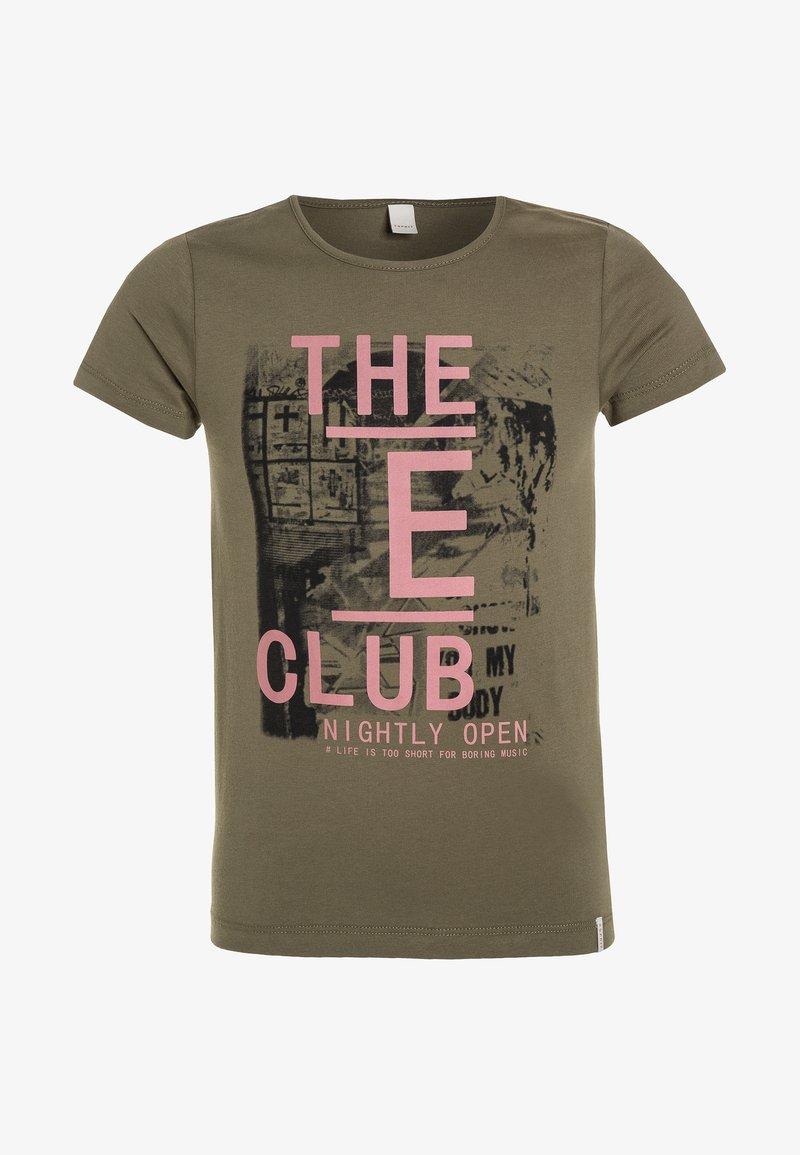 Esprit - Print T-shirt - kaki
