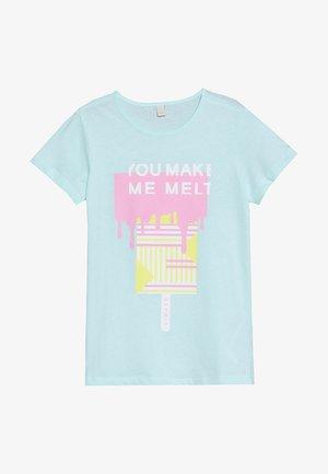 Print T-shirt - ice blue