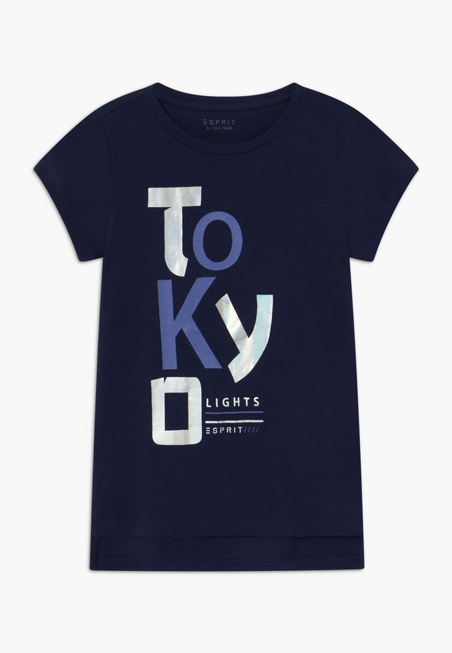 T-shirt med print - midnight blue