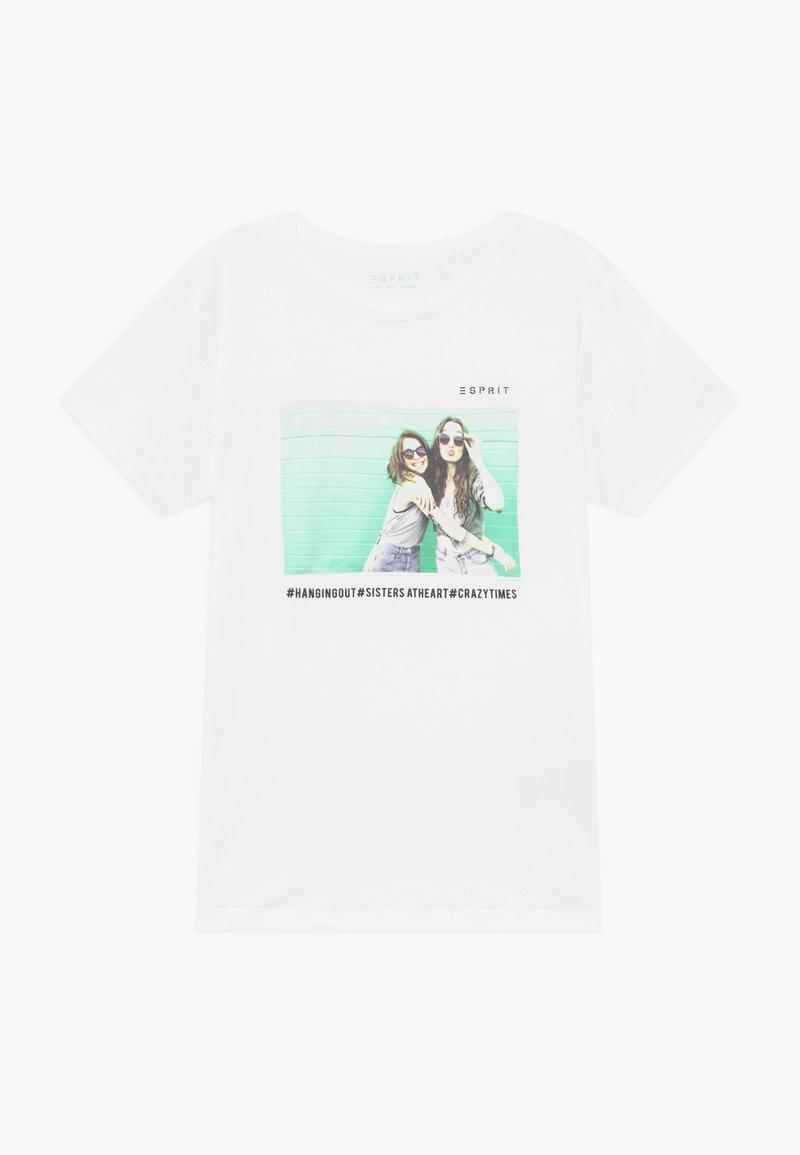 Esprit - T-shirt z nadrukiem - white