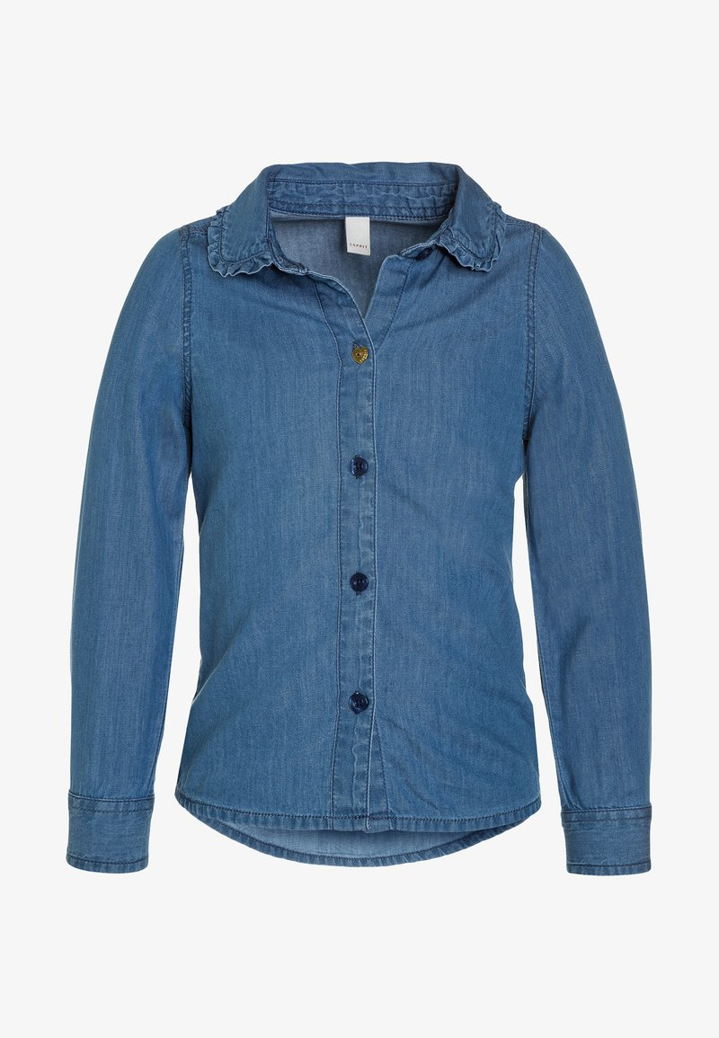 Esprit - BLOUSE - Hemdbluse - medium wash denim
