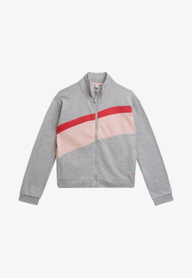Esprit - veste en sweat zippée - heather silver