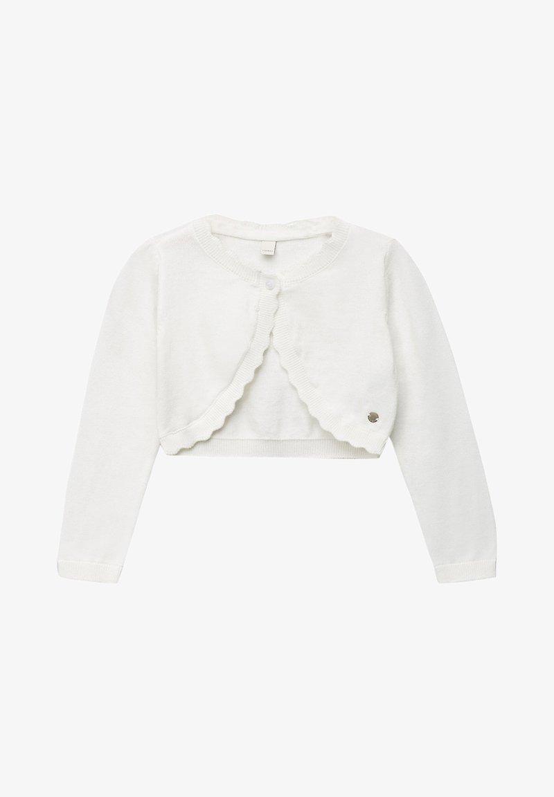 Esprit - FEINSTRICK-BOLERO AUS 100% BAUMWOLLE - Cardigan - off white
