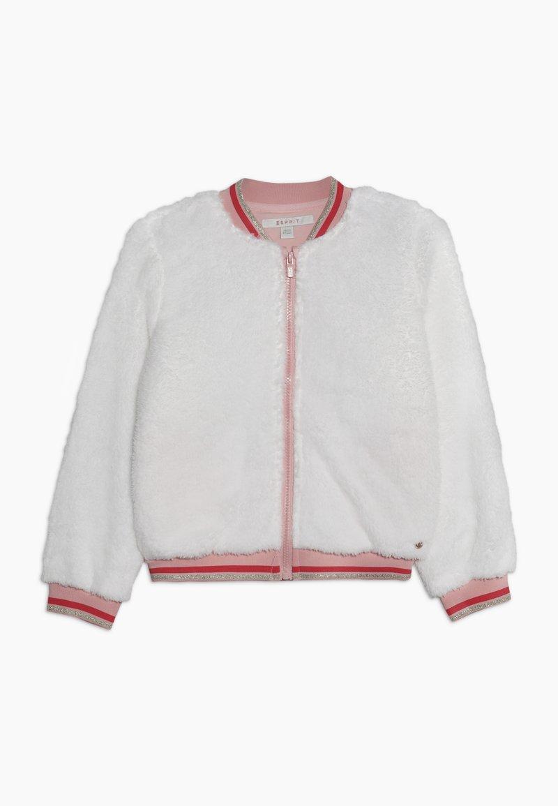 Esprit - veste en sweat zippée - off white