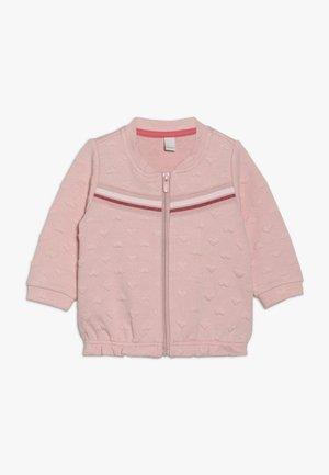 CARD BABY - Mikina na zip - light blush