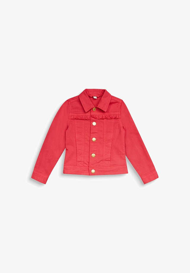 DENIM JACKET - Spijkerjas - raspberry