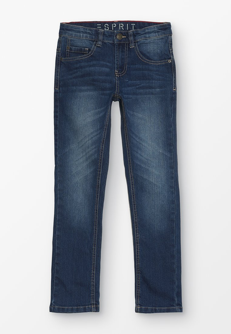 Esprit - PANTS - Jeans Slim Fit - medium wash denim