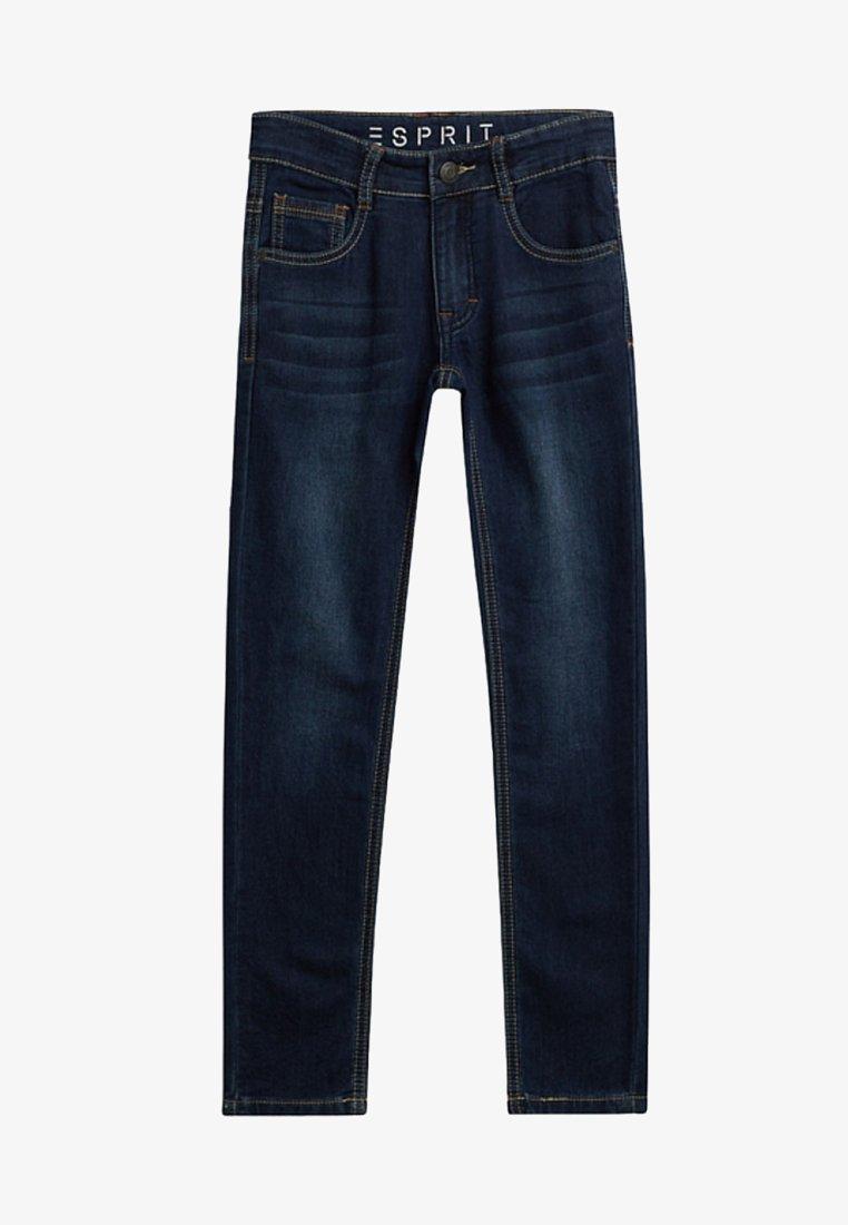 Esprit - MIT ZIERNÄHTEN - Slim fit jeans - dark indigo