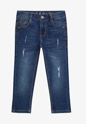 MIT USED-EFFEKTEN - Jeans Straight Leg - blue denim
