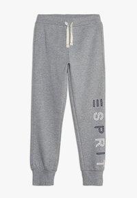 Esprit - KNIT PANTS - Verryttelyhousut - mid heather grey - 0