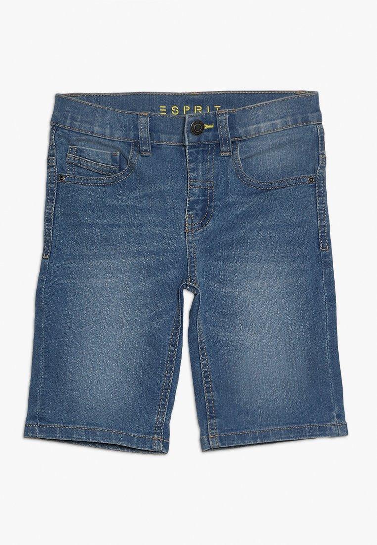 Esprit - BERMUDA - Denim shorts - medium wash denim