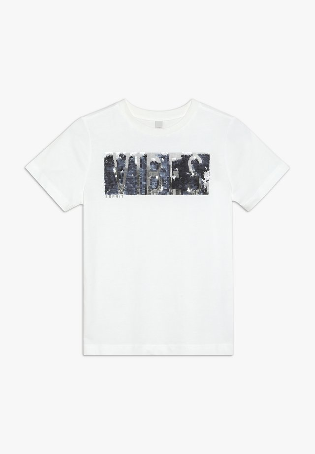 TEE - T-shirt med print - off white