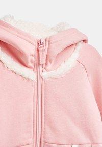 Esprit - veste en sweat zippée - light pink - 2