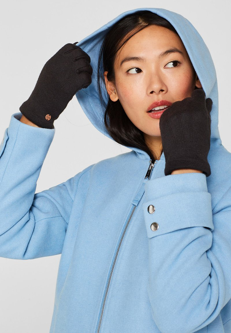 Esprit - GLOVES - Gloves - black