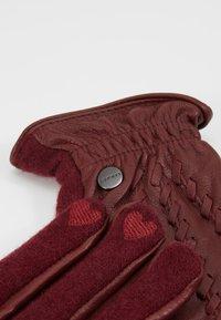 Esprit - Fingervantar - dark red - 3