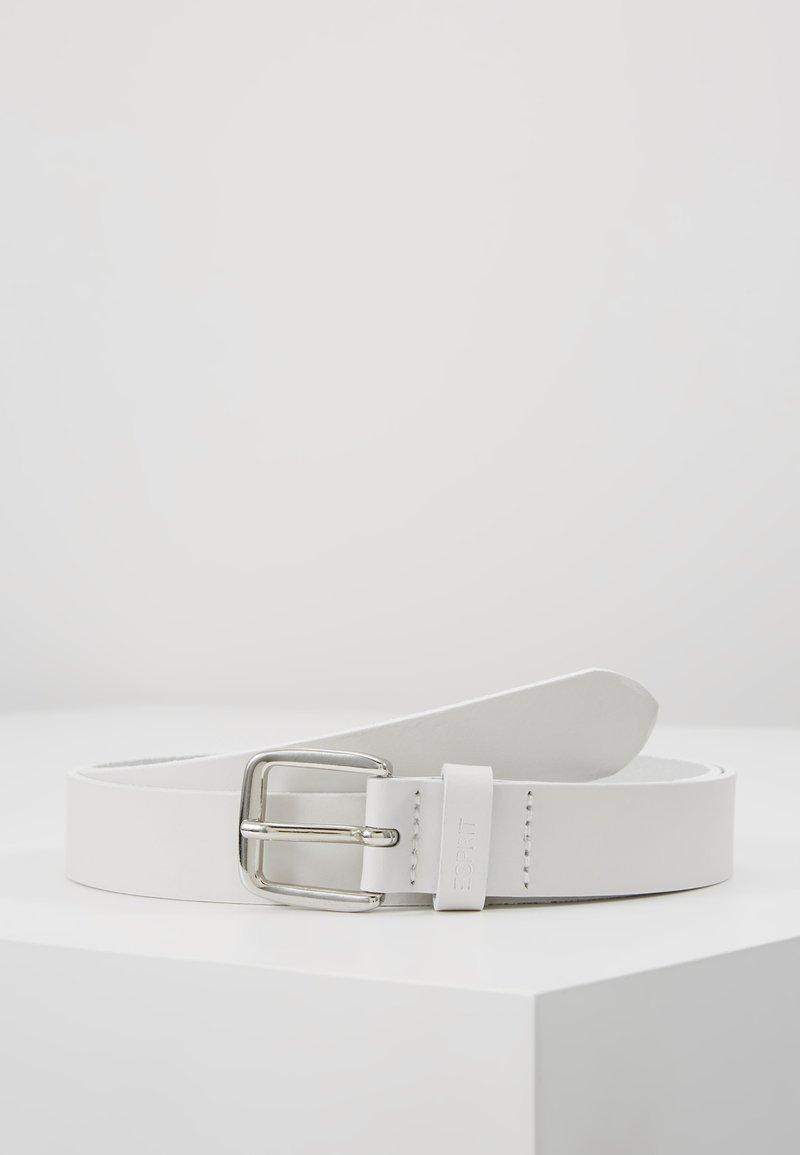 Esprit - SLIM BASIC - Gürtel - white