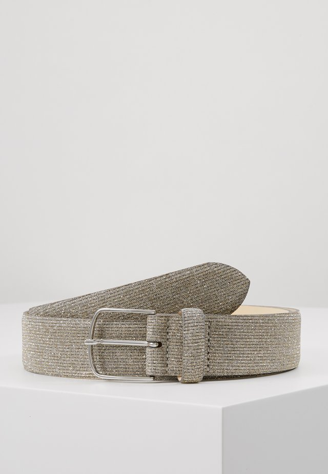 WIDE GLITTER BE - Belt - silver