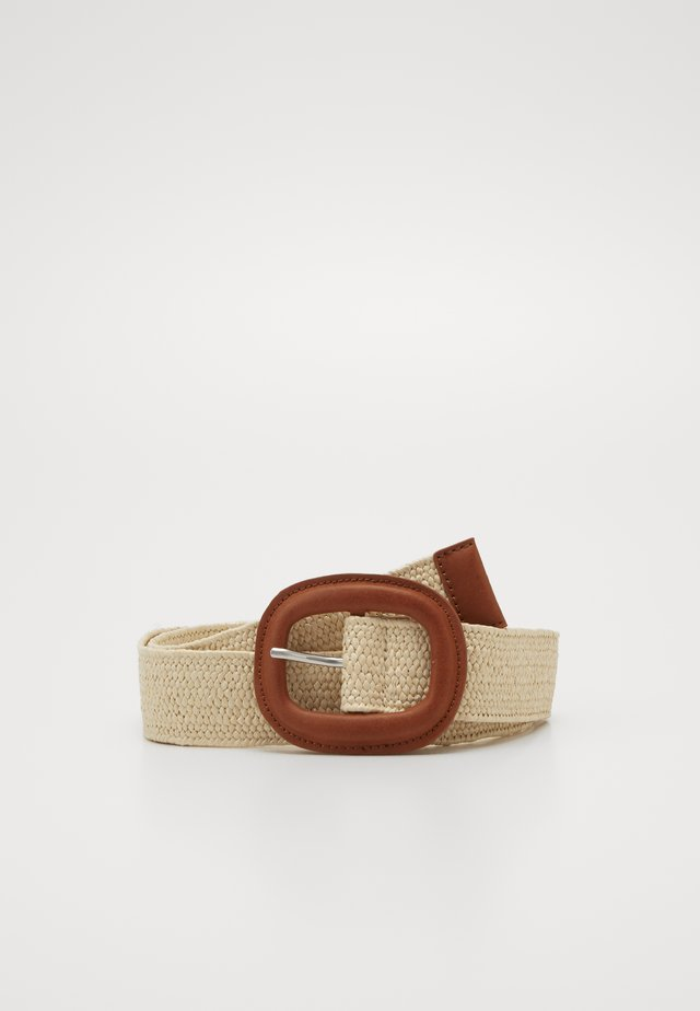 STRAW BELT - Belt - cream beige