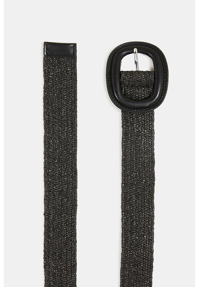 STRAW BELT - Gürtel - black