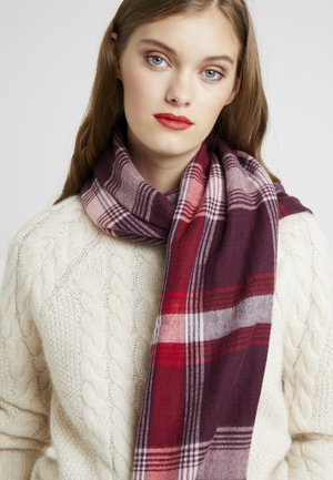 SMARTCHECKS - Scarf - bordeaux red