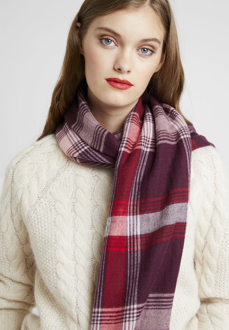Esprit - SMARTCHECKS - Scarf - bordeaux red