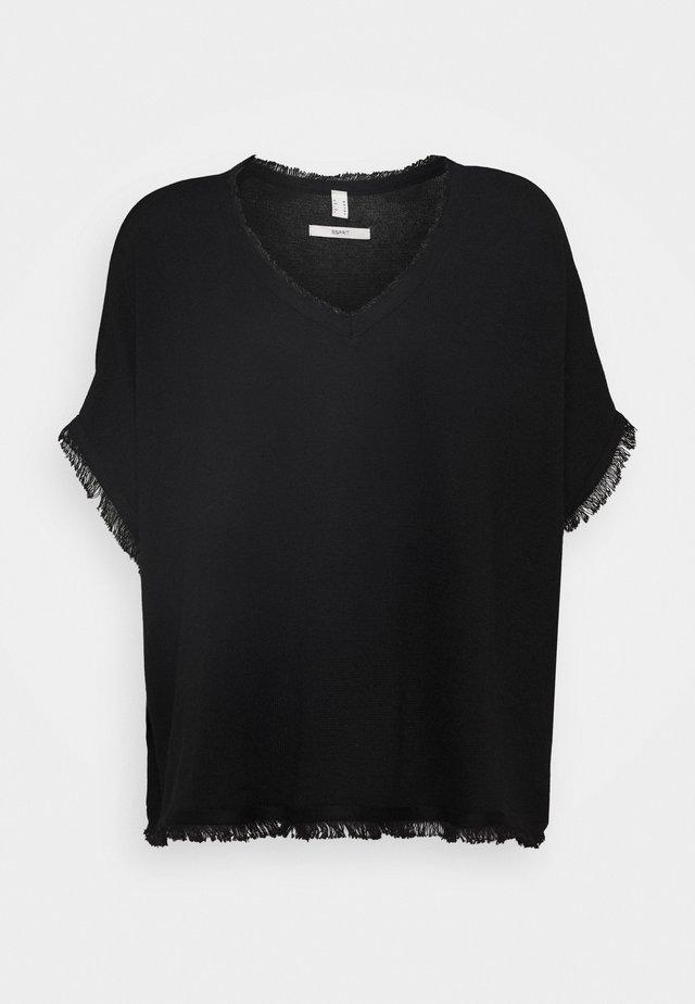 PONCHO CROP - Cape - black