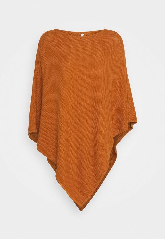 PONCH - Cape - rust brown