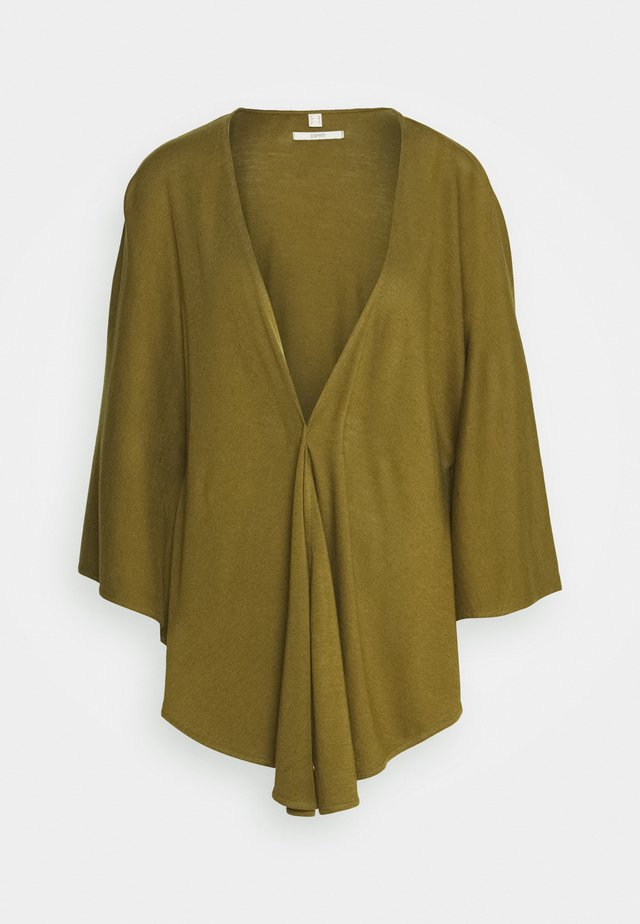 SOLID PONCH - Cape - olive