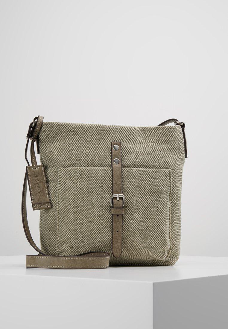 Esprit - PHYLLIS - Olkalaukku - khaki/beige