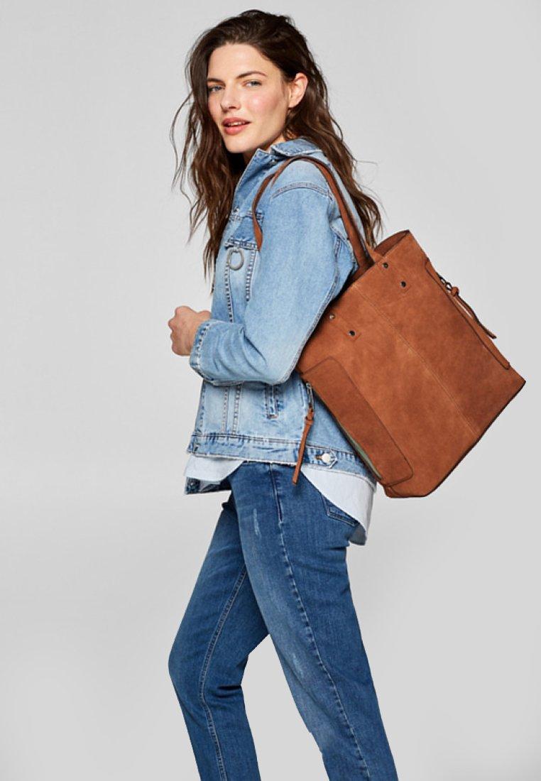 Esprit - Håndtasker - rust brown