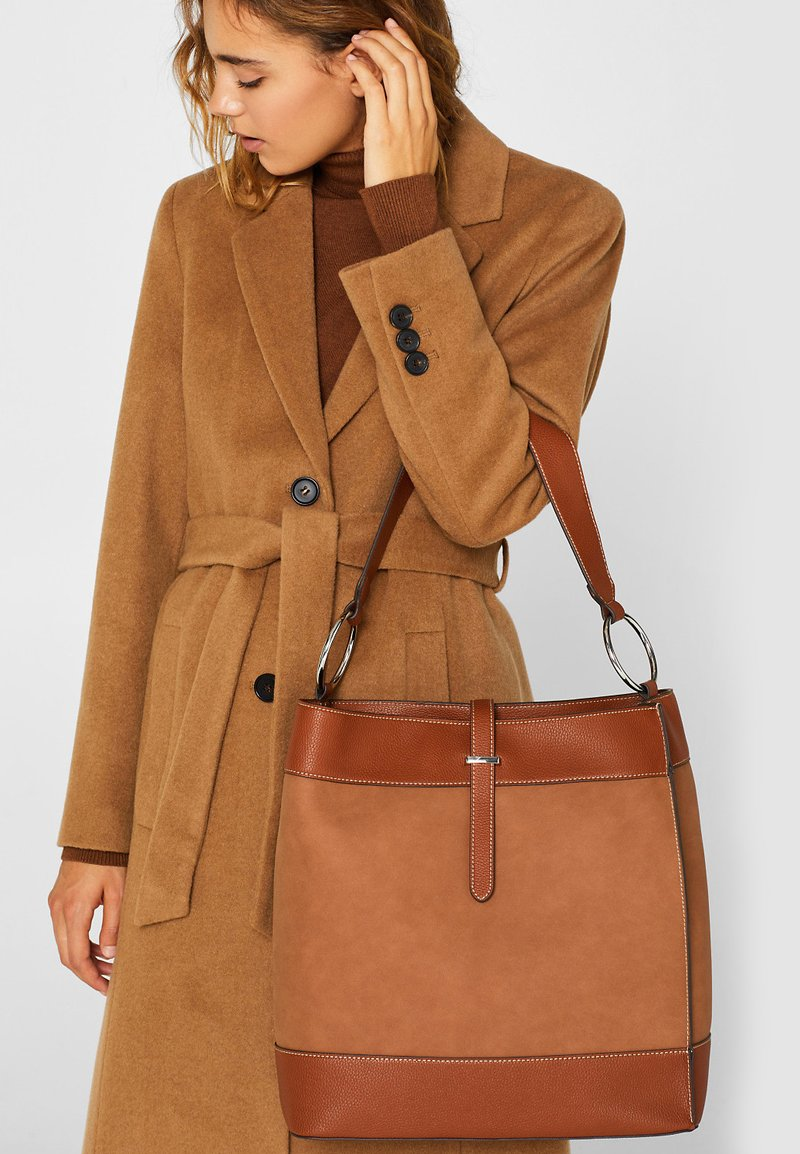 Esprit - HOBO  - Handtasche - rust brown