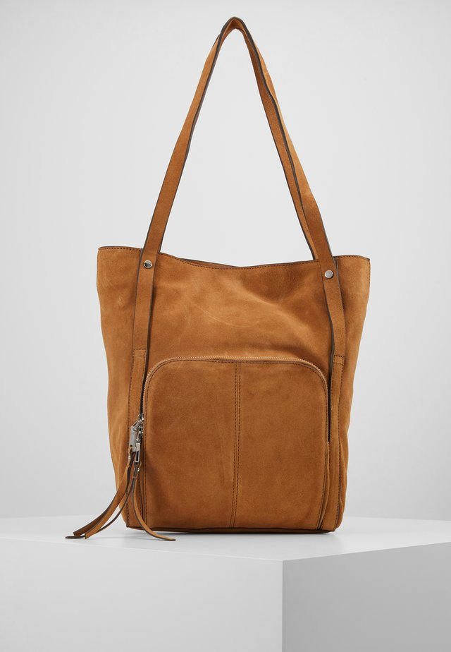 SHOPPER - Tote bag - rust brown