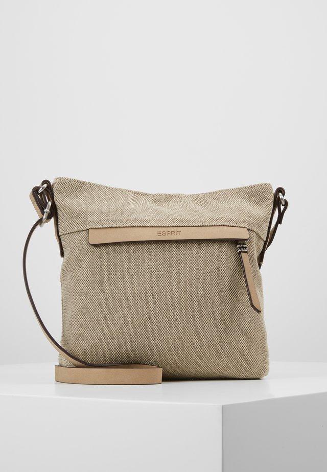 CARA SHOULDBAG - Across body bag - khaki beige