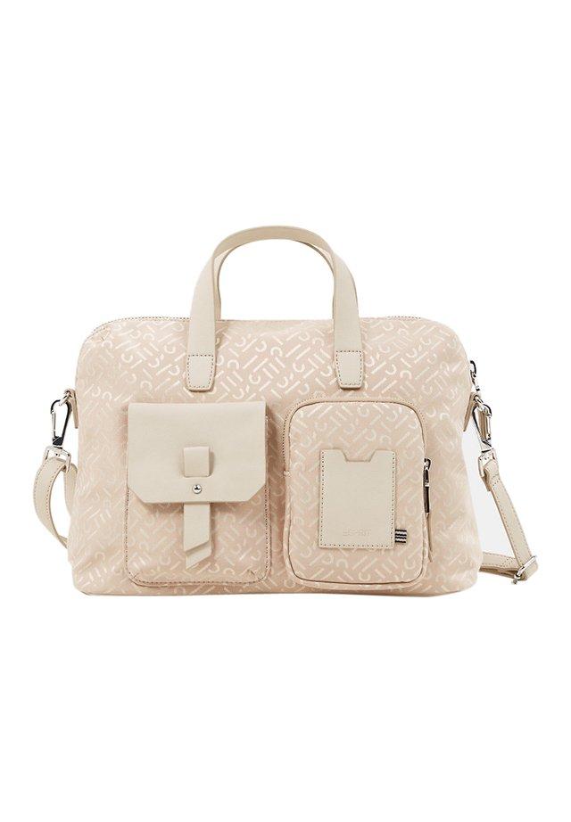 BUSINESS TASCHE MIT MONOGRAMM - Handtasche - beige