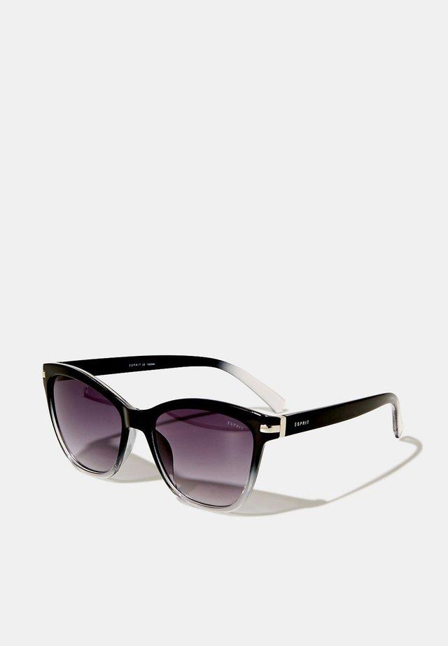 SONNENBRILLE MIT METALLBÜGELN - Sonnenbrille - black
