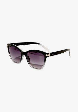SONNENBRILLE MIT METALLBÜGELN - Sunglasses - black