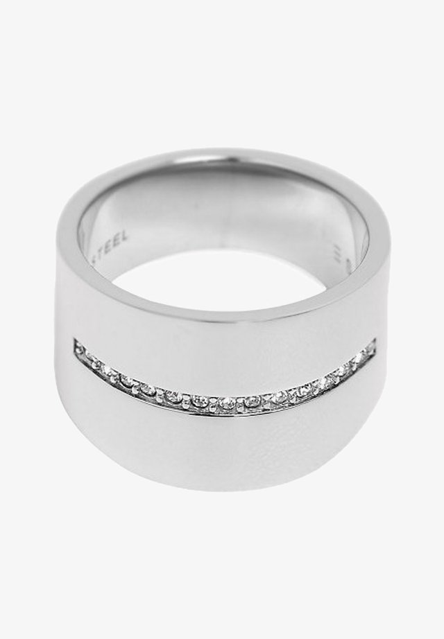 MIT ZIRKONIA-REIHE, EDELSTAHL - Ringar - silver-coloured