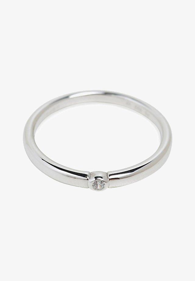 MIT ZIRKONIA, EDELSTAHL - Ringar - silver-coloured