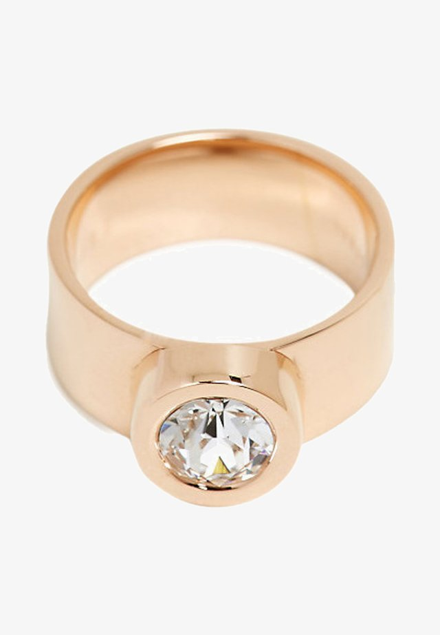 MIT ZIRKONIA, EDELSTAHL - Bague - gold-coloured