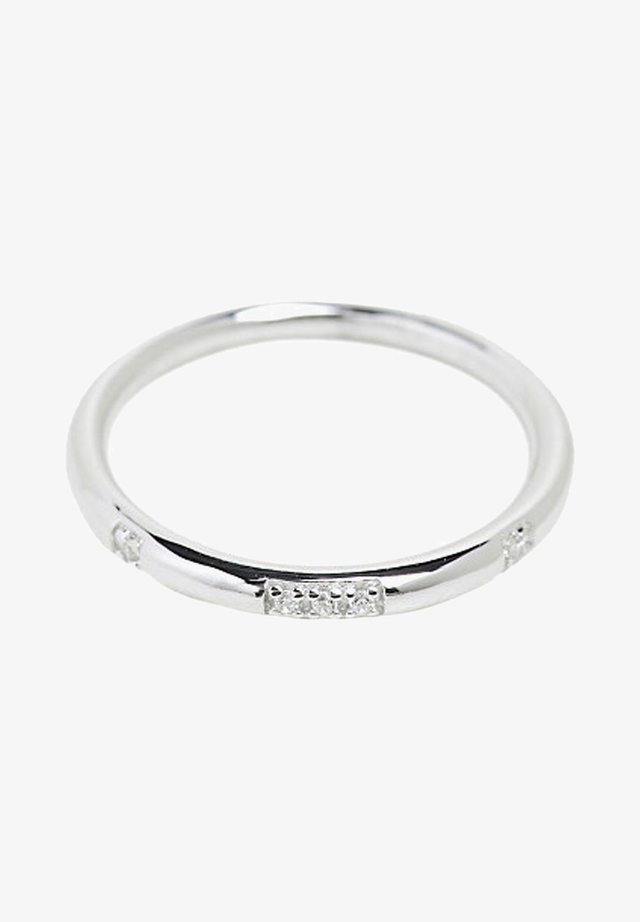 MIT ZIRKONIA-DEKOR, EDELSTAHL - Ring - silver-coloured