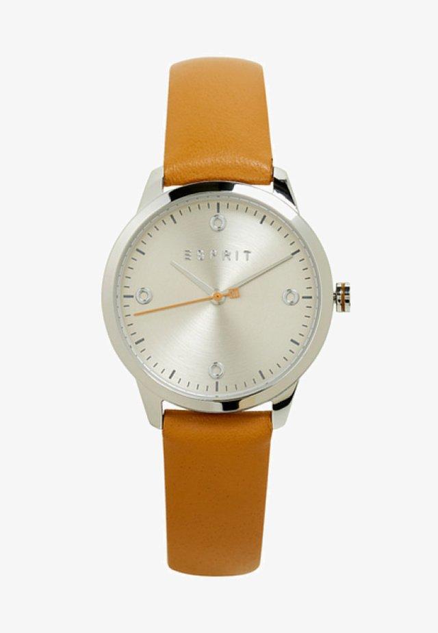 MIT LEDER-ARMBAND - Uhr - brown