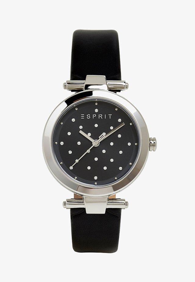 MIT ZIRKONIA UND LEDER-ARMBAND - Uhr - black