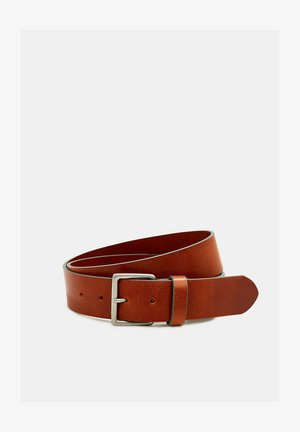 MIT FARBIGEN KANTEN - Belt - brown